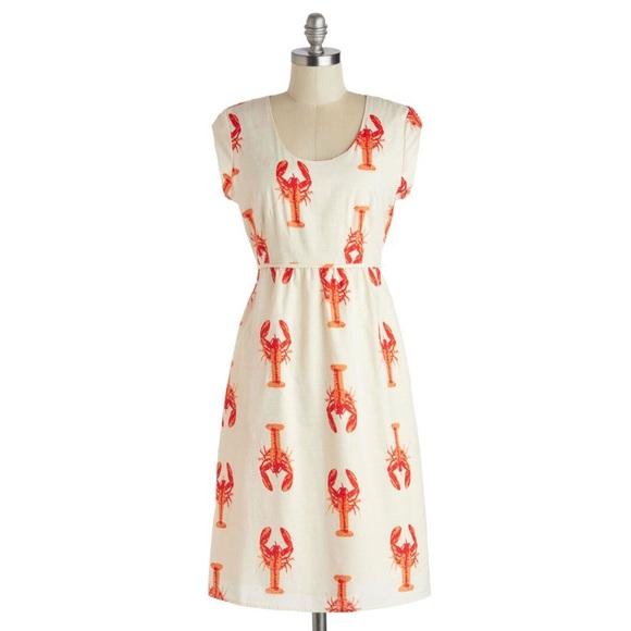 af07ab375 Downeast ModCloth lobster print tunic dress. M_5aad8d9ea6e3ea6f6cb40a65